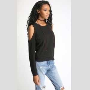 n:Philanthropy Maia Open Shoulder Sweatshirt